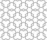 Διανυσματική σύγχρονη άνευ ραφής hexagon, γραπτή περίληψη σχεδίων γεωμετρίας Στοκ φωτογραφία με δικαίωμα ελεύθερης χρήσης