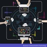 Διανυσματική τεχνολογία επιχειρησιακών επικοινωνιών Στοκ εικόνες με δικαίωμα ελεύθερης χρήσης