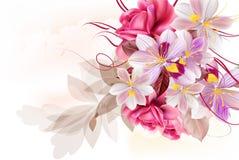 Διανυσματική χαριτωμένη ανθοδέσμη λουλουδιών για το σχέδιο Στοκ φωτογραφίες με δικαίωμα ελεύθερης χρήσης