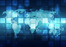 Διανυσματική ψηφιακή σφαιρική έννοια τεχνολογίας, αφηρημένο υπόβαθρο Στοκ Εικόνα