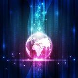 Διανυσματική ψηφιακή σφαιρική έννοια τεχνολογίας, αφηρημένο υπόβαθρο Στοκ Φωτογραφία