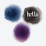 Διανυσματικοί κύκλοι Watercolour Στοκ εικόνα με δικαίωμα ελεύθερης χρήσης