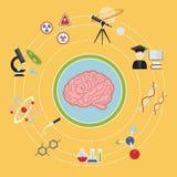 διανυσματικός ιστοχώρος επιστήμης απεικόνισης εικονιδίων τίτλων εγγράφων εννοιών άρθρου Στοκ Φωτογραφίες