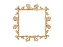 διανυσματικός τρύγος απεικόνισης πλαισίων χρυσός Απομονώστε τον καθρέφτη Αναδρομικό στοιχείο σχεδίου φυσική ρεαλιστική αντανάκλασ Στοκ Εικόνα