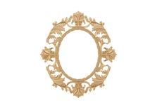διανυσματικός τρύγος απεικόνισης πλαισίων χρυσός Απομονώστε τον καθρέφτη Αναδρομικό στοιχείο σχεδίου φυσική ρεαλιστική αντανάκλασ Στοκ Φωτογραφία