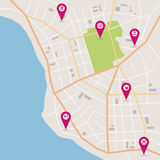 Διανυσματικός χάρτης πόλεων Στοκ φωτογραφία με δικαίωμα ελεύθερης χρήσης