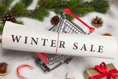 διανυσματικός χειμώνας κειμένων πώλησης ανασκόπησης Στοκ φωτογραφίες με δικαίωμα ελεύθερης χρήσης