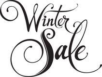 διανυσματικός χειμώνας κειμένων πώλησης ανασκόπησης Στοκ Εικόνες