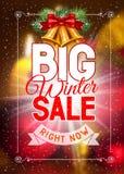 διανυσματικός χειμώνας κειμένων πώλησης ανασκόπησης Στοκ Εικόνα