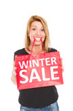 διανυσματικός χειμώνας κειμένων πώλησης ανασκόπησης Στοκ φωτογραφία με δικαίωμα ελεύθερης χρήσης