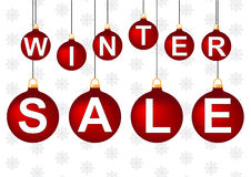 διανυσματικός χειμώνας κειμένων πώλησης ανασκόπησης Στοκ εικόνα με δικαίωμα ελεύθερης χρήσης