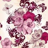 Διανυσματικό άνευ ραφής σχέδιο για το σχέδιο ταπετσαριών με τα λουλούδια Στοκ φωτογραφία με δικαίωμα ελεύθερης χρήσης