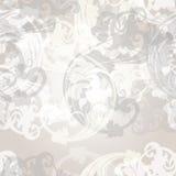 Διανυσματικό άνευ ραφής σχέδιο για το σχέδιο ταπετσαριών με τους floral στροβίλους Στοκ φωτογραφία με δικαίωμα ελεύθερης χρήσης