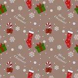 Διανυσματικό άνευ ραφής σχέδιο Χριστουγέννων Στοκ Εικόνα