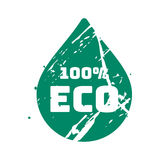 Διανυσματικό αναδρομικό εκλεκτής ποιότητας γραμματόσημο κιρκιριών eco για το ποιοτικό σημάδι Στοκ φωτογραφία με δικαίωμα ελεύθερης χρήσης