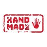 Διανυσματικό αναδρομικό χέρι - γίνοντα κιρκίρι εκλεκτής ποιότητας γραμματόσημο για το ποιοτικό σημάδι Στοκ Εικόνα