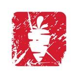 Διανυσματικό αναδρομικό vegan εκλεκτής ποιότητας γραμματόσημο κιρκιριών για το ποιοτικό σημάδι Στοκ Εικόνες