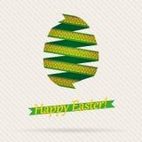 Διανυσματικό αυγό Πάσχας από τις κορδέλλες Στοκ Φωτογραφίες