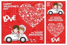 διανυσματικό γαμήλιο λευκό πρόσκλησης σχεδίων καρτών ανασκόπησης βαλεντίνος μορφής αγάπης καρδιών καρτών Στοκ Εικόνες