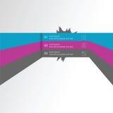 Διανυσματικό γραμμικό στοιχείο infographics, ένα πρότυπο για το σχέδιο του ιστοχώρου σε τρία μέρη Στοκ εικόνα με δικαίωμα ελεύθερης χρήσης
