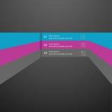 Διανυσματικό γραμμικό στοιχείο infographics, ένα πρότυπο για το σχέδιο του ιστοχώρου Στοκ Εικόνα