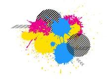 διανυσματικό γραφικό υπόβαθρο χρώματος Splatter grunge Στοκ Φωτογραφία
