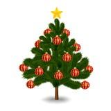 διανυσματικό λευκό δέντρων απεικόνισης Χριστουγέννων ανασκόπησης Στοκ φωτογραφία με δικαίωμα ελεύθερης χρήσης