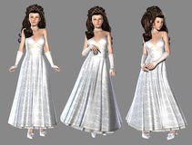 διανυσματικό λευκό πριγκηπισσών απεικόνισης φορεμάτων Στοκ φωτογραφίες με δικαίωμα ελεύθερης χρήσης
