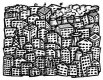 διανυσματικό λευκό πόλεων ανασκόπησης Στοκ Εικόνες