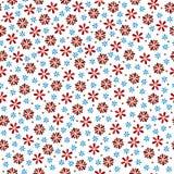 διανυσματικό ζωηρόχρωμο άνευ ραφής σχέδιο λουλουδιών τα λουλούδια εμβλημάτων ανασκόπησης διαμορφώνουν λίγη ρόδινη σπείρα Στοκ Φωτογραφία