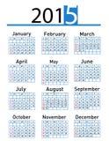 διανυσματικό ημερολόγιο έτους του 2015 Στοκ Εικόνες