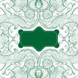 Διανυσματικό διακοσμητικό Floral πλαίσιο Στοκ Εικόνα