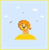 Διανυσματικό λιοντάρι κινούμενων σχεδίων Στοκ Εικόνα