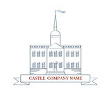 Διανυσματικό κάστρο Τέλειο λογότυπο για την ακίνητη περιουσία πολυτέλειας Στοκ εικόνες με δικαίωμα ελεύθερης χρήσης