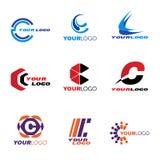 Διανυσματικό καθορισμένο σχέδιο λογότυπων γραμμάτων Γ Στοκ φωτογραφία με δικαίωμα ελεύθερης χρήσης