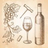 διανυσματικό κρασί απεικόνισης 8 eps Στοκ Φωτογραφία