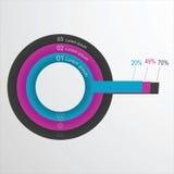 Διανυσματικό κυκλικό infographic πρότυπο στοιχείων για να σχεδιάσει έναν ιστοχώρο Στοκ φωτογραφία με δικαίωμα ελεύθερης χρήσης