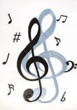 διανυσματικό κύμα σημειώσεων κλασικής μουσικής Στοκ Φωτογραφίες