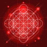 Διανυσματικό μαγικό σημάδι γεωμετρίας Στοκ φωτογραφίες με δικαίωμα ελεύθερης χρήσης