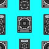 Διανυσματικό μουσικό άνευ ραφής σχέδιο εξοπλισμού Στοκ Εικόνες