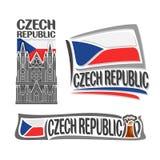 Διανυσματικό λογότυπο για τη Δημοκρατία της Τσεχίας Στοκ Εικόνα