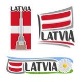Διανυσματικό λογότυπο για τη Λετονία Στοκ εικόνα με δικαίωμα ελεύθερης χρήσης