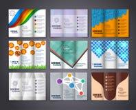 Διανυσματικό πρότυπο σχεδίου σχεδιαγράμματος φυλλάδιων Στοκ Εικόνες
