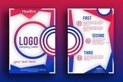 Διανυσματικό πρότυπο σχεδιαγράμματος σχεδίου φυλλάδιων Στοκ εικόνες με δικαίωμα ελεύθερης χρήσης