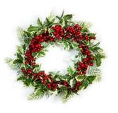 διανυσματικό στεφάνι απεικόνισης ελαιόπρινου Χριστουγέννων Στοκ φωτογραφίες με δικαίωμα ελεύθερης χρήσης