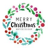 διανυσματικό στεφάνι απεικόνισης ελαιόπρινου Χριστουγέννων Στοκ εικόνα με δικαίωμα ελεύθερης χρήσης