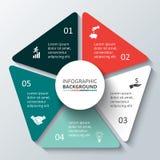 Διανυσματικό στοιχείο κύκλων για infographic Στοκ εικόνα με δικαίωμα ελεύθερης χρήσης