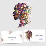 Διανυσματικό στοιχείο σχεδίου εικονιδίων, πρότυπο επαγγελματικών καρτών Στοκ Εικόνα