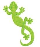 Διανυσματικό σχέδιο ενός gecko σαυρών με τα εθνικά σχέδια Στοκ Εικόνα