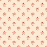 Διανυσματικό σχέδιο κεραμιδιών με τα cupcakes στο υπόβαθρο κρητιδογραφιών Στοκ Εικόνες